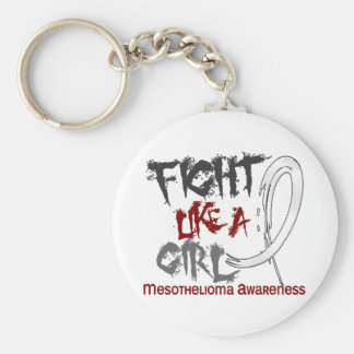 Fight Like A Girl 5.3 Mesothelioma Basic Round Button Key Ring