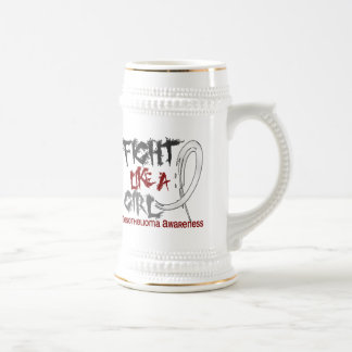 Fight Like A Girl 5.3 Mesothelioma 18 Oz Beer Stein