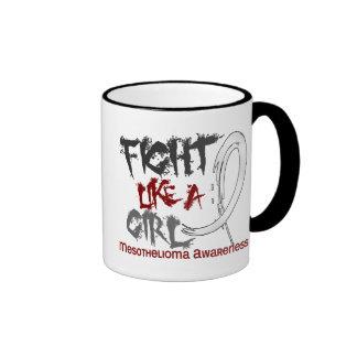Fight Like A Girl 5.3 Mesothelioma Ringer Coffee Mug