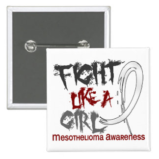 Fight Like A Girl 5 3 Mesothelioma Pins