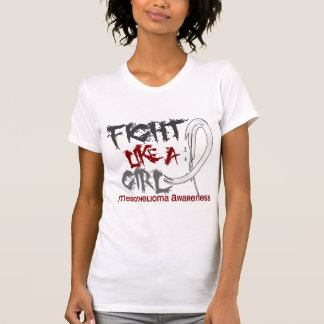 Fight Like A Girl 5 3 Mesothelioma Shirt
