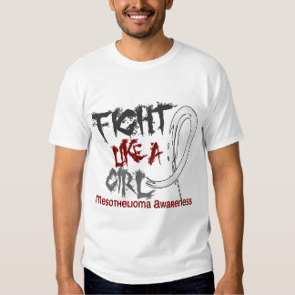 Fight Like A Girl 5.3 Mesothelioma T-shirt