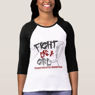 Fight Like A Girl 5 3 Mesothelioma Tee Shirt