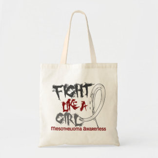 Fight Like A Girl 5 3 Mesothelioma Tote Bags