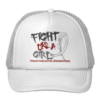 Fight Like A Girl 5 3 Mesothelioma Trucker Hat