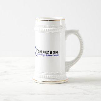 Fight Like A Girl 6.3 CFS Chronic Fatigue Syndrome 18 Oz Beer Stein