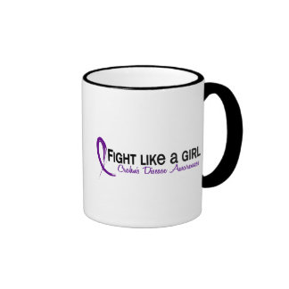 Fight Like A Girl 6.3 Crohn's Disease Ringer Mug