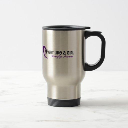 Fight Like A Girl 6.3 Fibromyalgia Coffee Mugs
