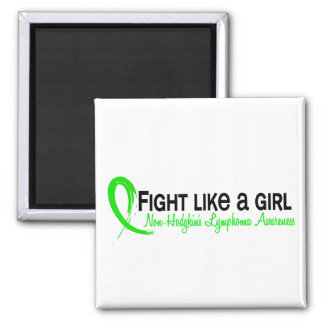 Fight Like A Girl 6.3 Non-Hodgkin's Lymphoma Square Magnet