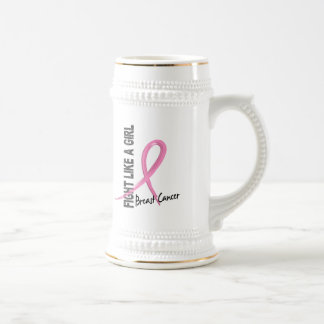 Fight Like A Girl 7.2 Breast Cancer Beer Steins