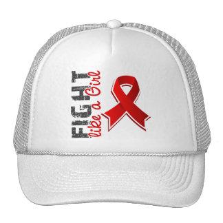 Fight Like A Girl AIDS 28 8 Trucker Hat