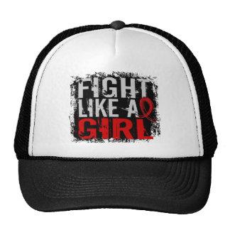 Fight Like a Girl AIDS 31 8 Trucker Hat