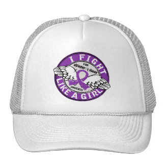 Fight Like A Girl Alzheimer s Disease16 5 Trucker Hats