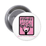 Fight Like A Girl Badge For Breast Cancer Pinback Buttons
