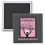 Fight Like A Girl Badge For Breast Cancer Magnet