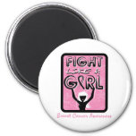 Fight Like A Girl Badge For Breast Cancer Magnets