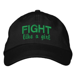 Fight Like A Girl Bipolar Disorder Embroidered Baseball Cap