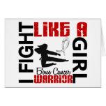 Fight Like A Girl Bone Cancer 3.2 Greeting Card