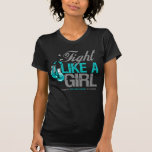 Fight Like a Girl Boxing - Cervical Cancer Tshirt