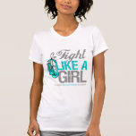 Fight Like a Girl Boxing - Cervical Cancer Tee Shirts