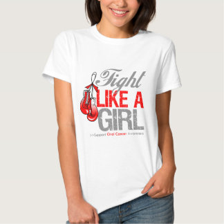 Fight Like a Girl Boxing - Oral Cancer Shirts