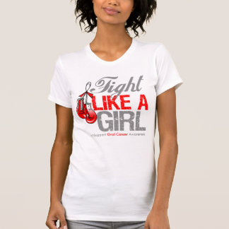 Fight Like a Girl Boxing - Oral Cancer T Shirts