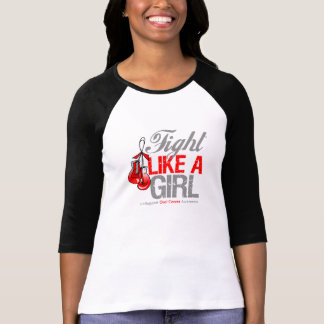 Fight Like a Girl Boxing - Oral Cancer Tshirts