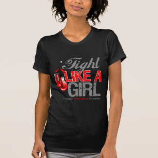 Fight Like a Girl Boxing - Oral Cancer T-shirt