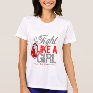 Fight Like a Girl Boxing - Oral Cancer Tee Shirt