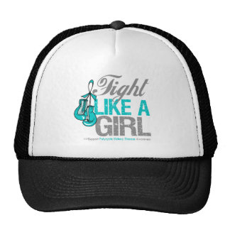 Fight Like a Girl Boxing Polycystic Kidney Disease Trucker Hats