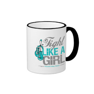 Fight Like a Girl Boxing Polycystic Kidney Disease Mug