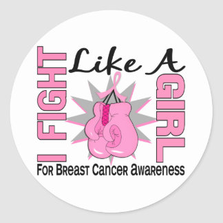 Fight Like A Girl Breast Cancer 8 5 Sticker