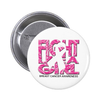 Fight like a Girl - Breast Cancer Awareness Buttons