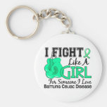 Fight Like A Girl Celiac Disease 15.6 Key Chains