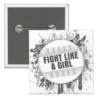 Fight Like a Girl Cool Button - Bone Cancer