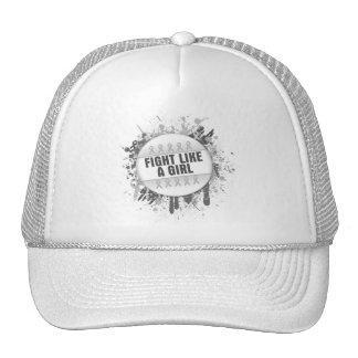 Fight Like a Girl Cool Button - Bone Cancer Hat