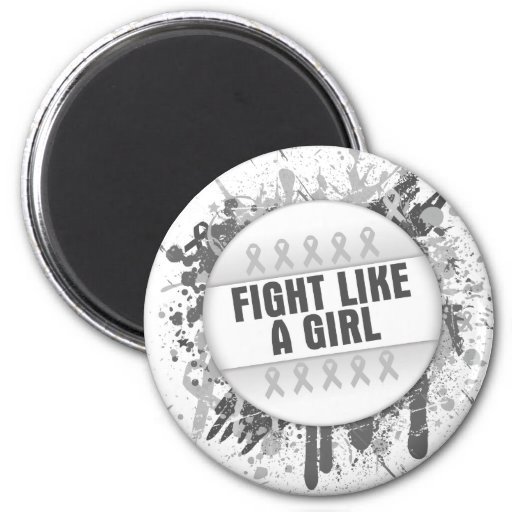 Fight Like a Girl Cool Button - Bone Cancer Fridge Magnets