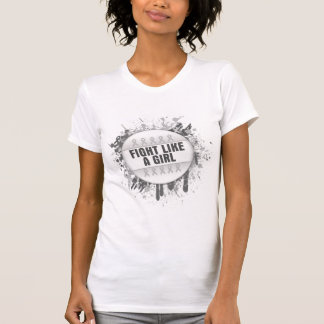 Fight Like a Girl Cool Button - Bone Cancer T Shirt