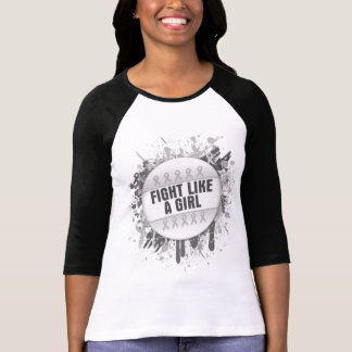 Fight Like a Girl Cool Button - Bone Cancer T-shirts