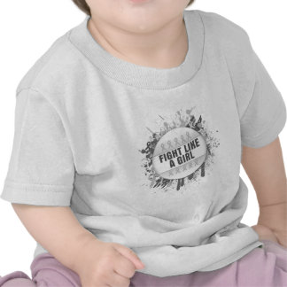 Fight Like a Girl Cool Button - Bone Cancer T Shirts