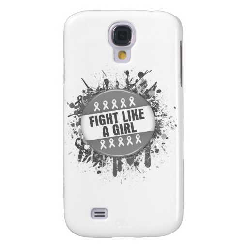 Fight Like a Girl Cool Button - Brain Cancer Samsung Galaxy S4 Cover