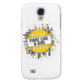 Fight Like a Girl Cool Button - Childhood Cancer Samsung Galaxy S4 Cover