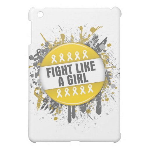Fight Like a Girl Cool Button - Childhood Cancer Case For The iPad Mini
