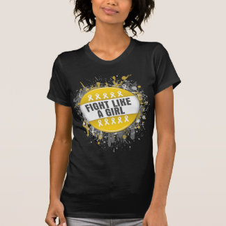 Fight Like a Girl Cool Button - Childhood Cancer Tees
