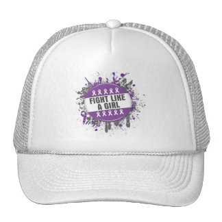Fight Like a Girl Cool Button - Epilepsy Hats