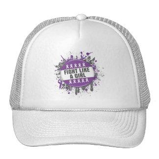Fight Like a Girl Cool Button - Fibromyalgia Cap