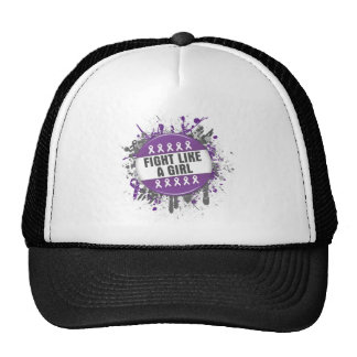 Fight Like a Girl Cool Button - Fibromyalgia Mesh Hat