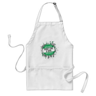 Fight Like a Girl Cool Button - Liver Cancer Aprons