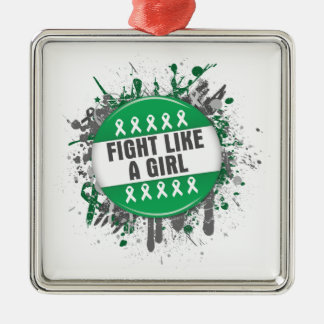 Fight Like a Girl Cool Button - Liver Cancer Ornaments