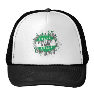 Fight Like a Girl Cool Button - Liver Cancer Trucker Hats